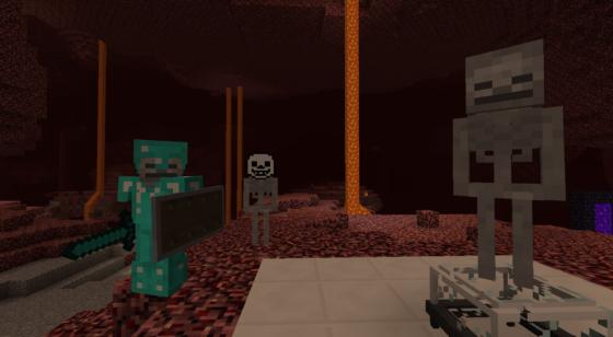 Pour une raison que j'ignore, l'un de mes squelettes est apparu avec un masque de Sans...
