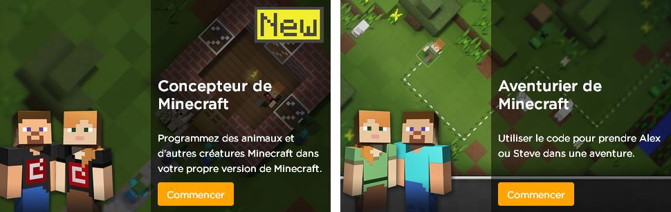 Minecraft programmation code.org