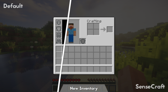 SenseCraft : Comparaison avec les textures par défaut
