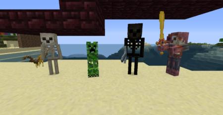 Pack de Textures Beyond The Lands : Squelette, Creeper etc