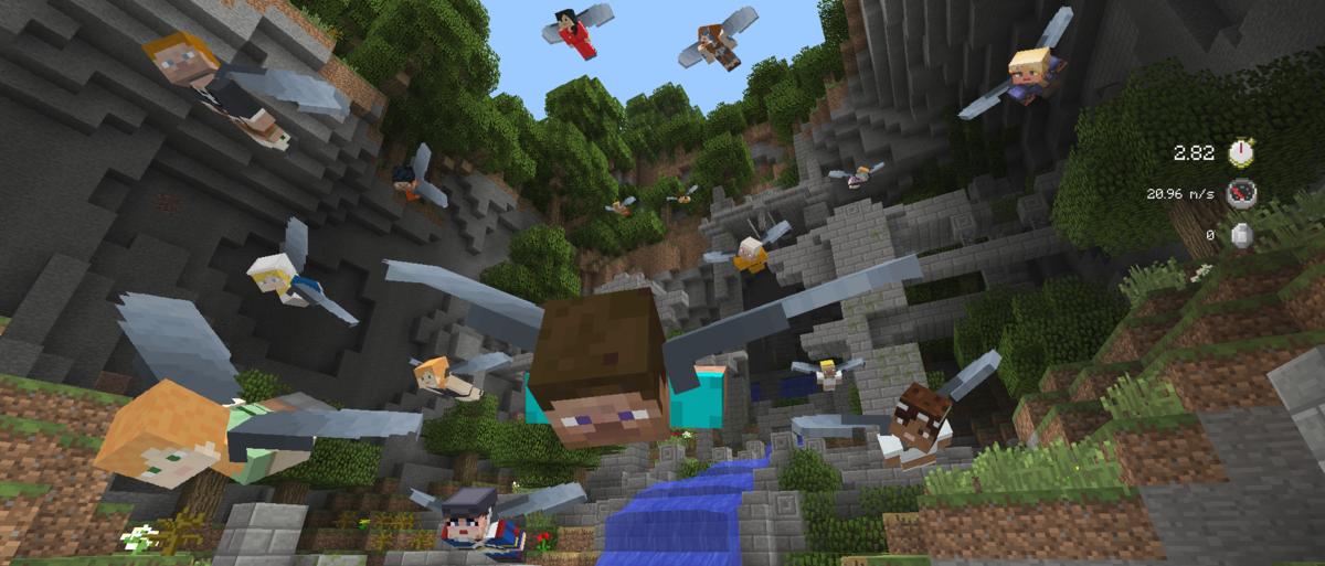Le mini-jeu Glide dès demain sur Minecraft !