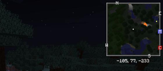 Xaero's Minimap mod minecraft nuit