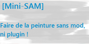[Mini-SAM] – La peinture dans Minecraft