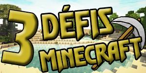 Les défis sur Minecraft | Édition Mineur