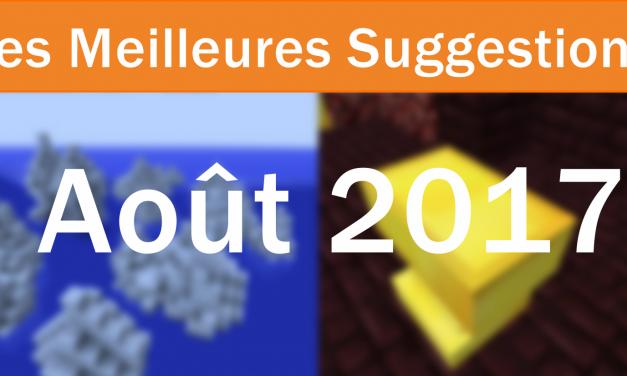 Les Meilleures Suggestions d'Août 2017