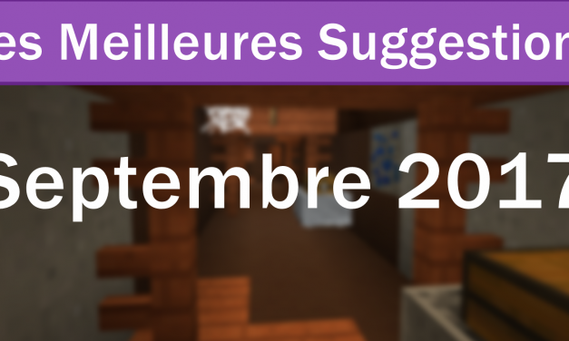 Les Meilleures Suggestions de Septembre 2017