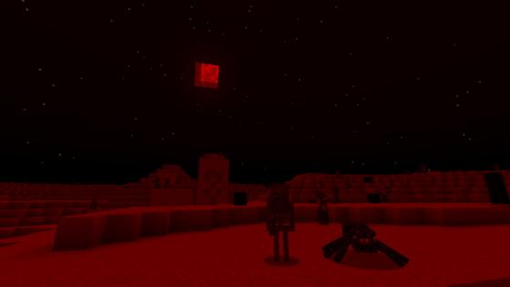 la lune rouge (bloodmoon) dans minecraft