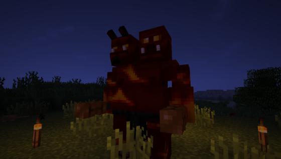 L'ogre de feu a les mêmes caractéristiques que l'ogre des cavernes (mais il est plus classe).
