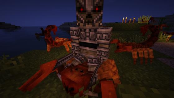 Les squelettes d'argent voudront votre mort à tout prix, ils sont capables de sprinter et de monter les scorpions !