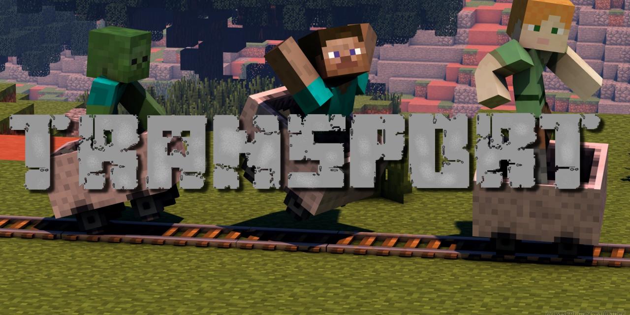 Le transport dans Minecraft