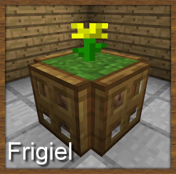 Décoration Minecraft pot de lfeur jaune