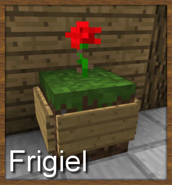 Décoration Minecraft pot de fleur rouge