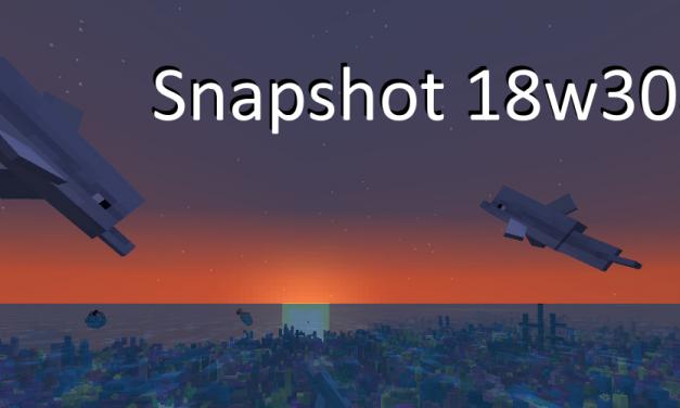Snapshot 18w30a