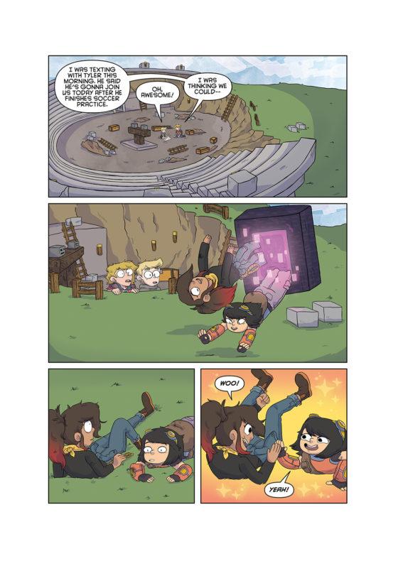 aperçu page bande dessinée bd minecraft dark horse ender portal
