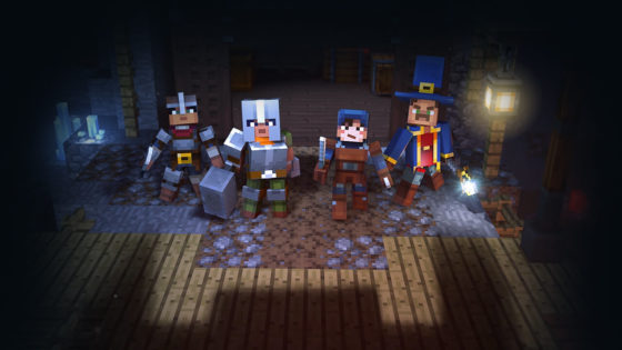 équipe team dans minecraft donjons multijoueur