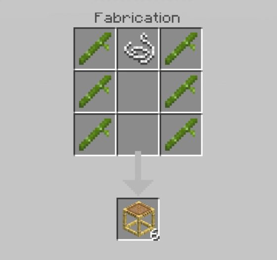 Recette fabrication des échafaudages dans Minecraft