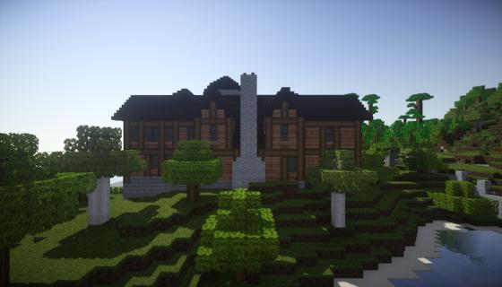 manoir pelès dans Minecraft vue de gauche