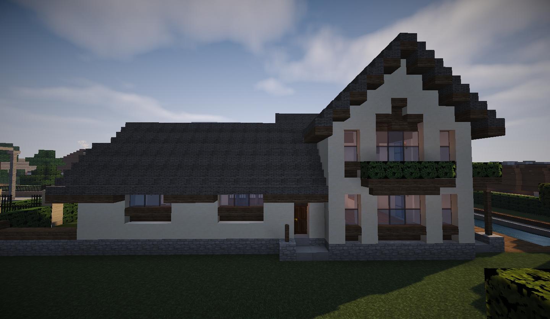 photo minecraft grande maison traditionnelle droite
