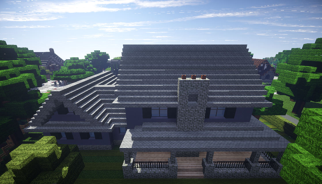 photo minecraft maison américaine american house nord