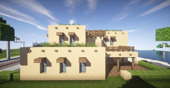 photo minecraft maison nouveau mexique pueblo est