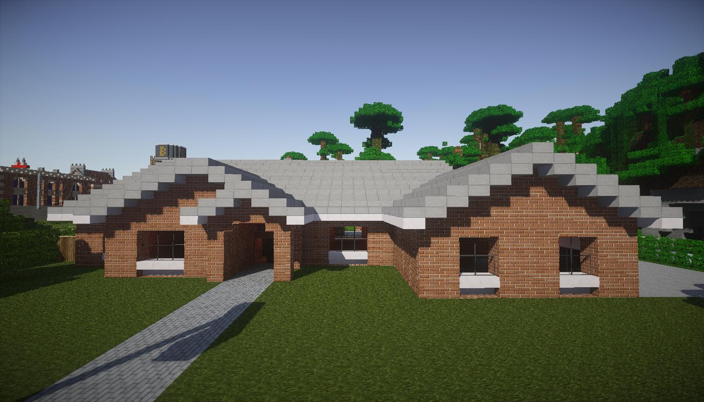 photo minecraft maison style cottage devant