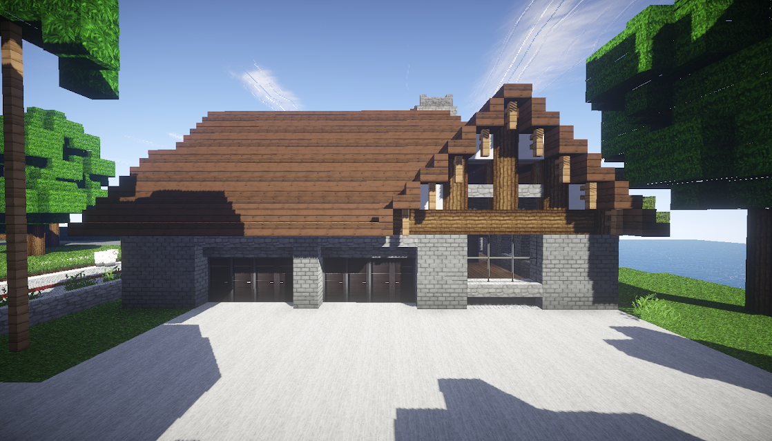 photo minecraft maison style tudor est