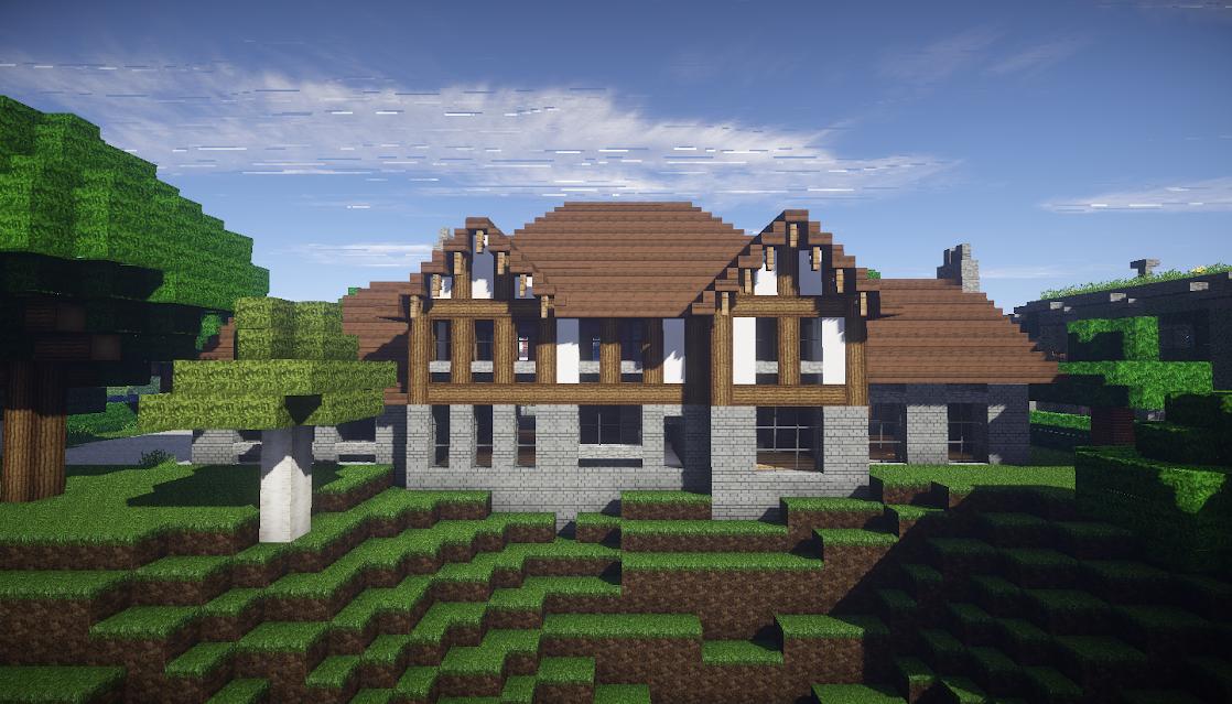 photo minecraft maison style tudor nord