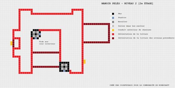 plan minecraft manoir pelès niveau 2