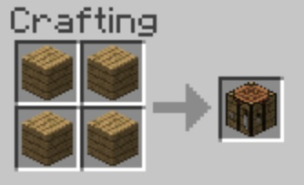 recette établi minecraft