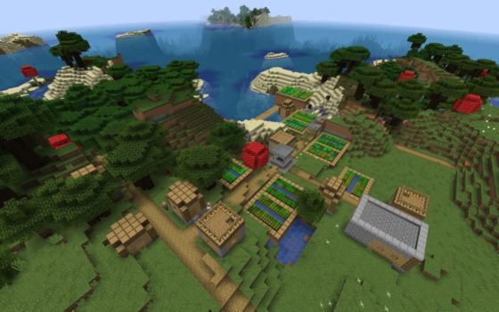 seed minecraft 1.13 ravin village forgeron
