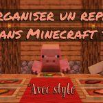 Organiser un repas dans Minecraft