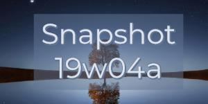 Minecraft 1.14 : Snapshot 19w04b