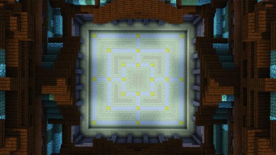 windmill map minecraft arène de jeu vue du haut