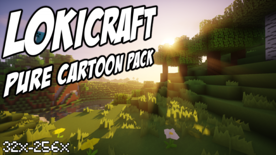 lokicraft pure cartoon pack de ressources minecraft