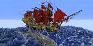 map minecraft bateau arkbraem requin