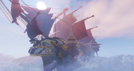 map minecraft bateau arkbraem avec shader