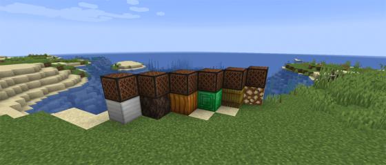 Minecraft 1.14 Snapshot 19w09a blocs musicaux