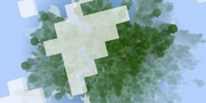 seed minecraft bedrock 1.9 île jungle dessus