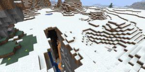 seed minecraft bedrock 1.9 biome neige ravin
