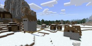 seed minecraft bedrock 1.9 biome neige village