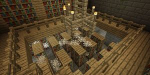 seed minecraft bedrock 1.9 stronghold bibliotheque