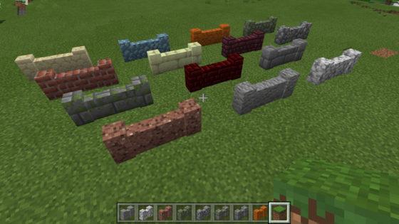minecraft bedrock 1.9 murets