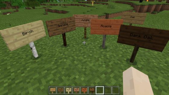 minecraft bedrock 1.9 pancartes