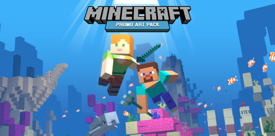 minecraft promo art pack affiche