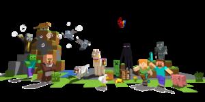 minecraft promo art pack mobs