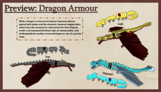 different type armure dragon