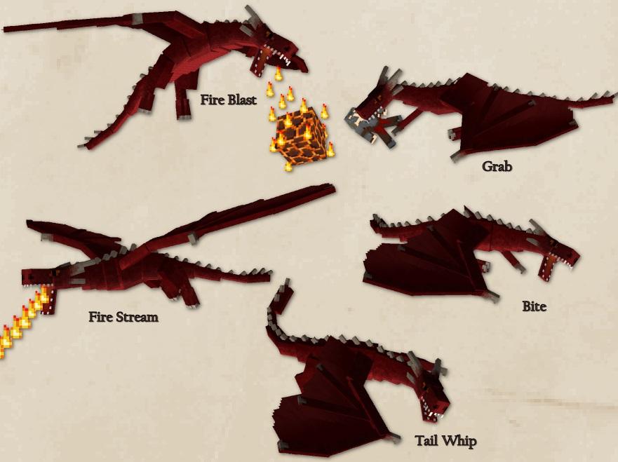 attaques dragon de feu