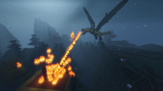 mod dragon ice and fire dragon de feu
