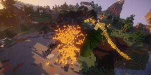 monte dragon de feu