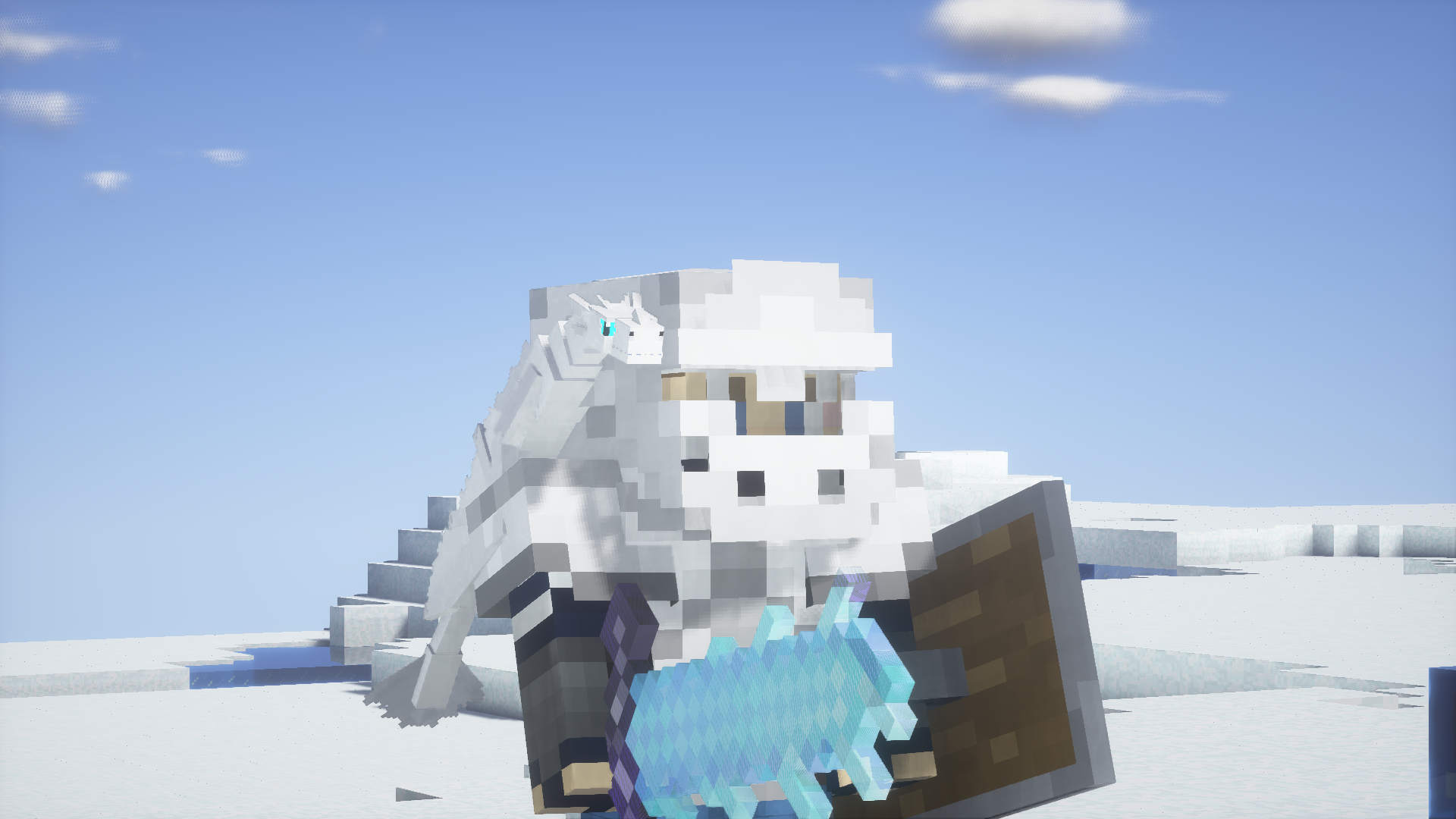 bébé dragon de glace armure
